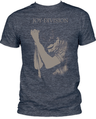 Joy Division Ian Curtis Heather Navy Short Sleeve Adult T-shirt