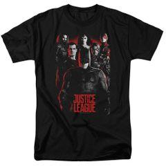 Justice League The League Black Short Sleeve Adult T-shirt