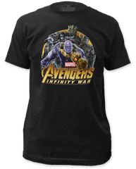The Avengers Infinity Wars Villains Black Short Sleeve Adult T-shirt