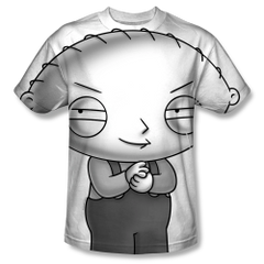 Family Guy Stewie Head Sublimation Front Only Print Adult T-shirt