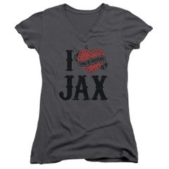 Sons of Anarchy I Heart Jax Junior V-Neck T-shirt