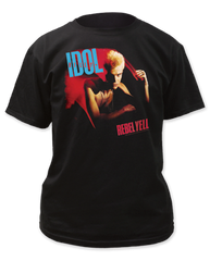 Billy Idol Rebel Yell Black Short Sleeve Adult T-shirt