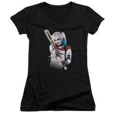 Suicide Squad Bat at You Junior V-Neck T-shirt