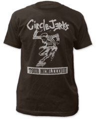 Circle Jerks 1988 Tour Black Cotton Short Sleeve Adult T-shirt