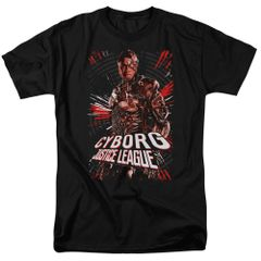 Justice League Cyborg 2 Black Short Sleeve Adult T-shirt