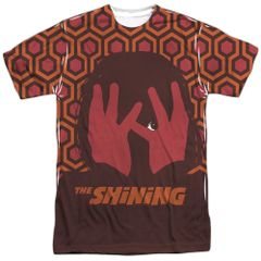 The Shining Hallway White Front and Back Print Short Sleeve Adult T-shirt