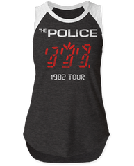 The Police 1982 Tour Black White Sleeveless Women's T-shirt