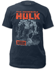 Incredible Hulk Breakthrough Black Short Sleeve Adult T-shirt
