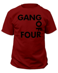 Gang of Four Logo Cardinal Short Sleeve Adult T-shirt