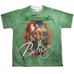 Christmas Polar Express Santa FB Print Youth T-shirt