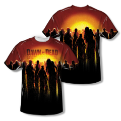 Dawn of the Dead The Swarm Sublimation Print Front and Back Adult T-shirt