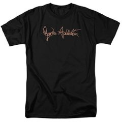 Janes Addiction Script Logo Black Short Sleeve Adult T-shirt