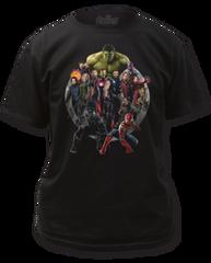 The Avengers Infinity Wars Avengers Black Short Sleeve Adult T-shirt