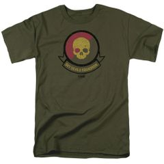 Kong Skull Island Squadron Military Green Short Sleeve Adult T-shirt