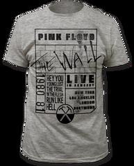 Pink Floyd The Wall 80-81 Tour Heater Grey Short Sleeve Adult T-shirt