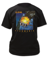 Def Leppard Pyromania Black Cotton Short Sleeve Adult T-shirt
