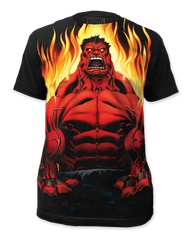 Incredible Hulk Red Hulk Big Print Adult T-shirt