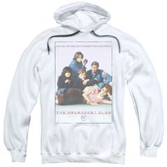 The Breakfast Club Poster White Adult Pull-Over Hoodie