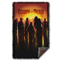 Dawn of the Dead Dead Woven Throw Blanket