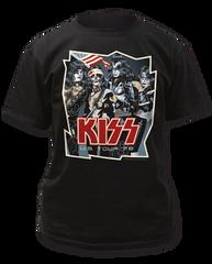 KISS US Tour '76 Black Short Sleeve Adult T-shirt