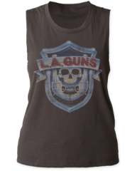 LA Guns Logo Black Sleeveless Women's T-shirt