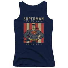Superman Retro Liberty Junior Tank Top T-shirt