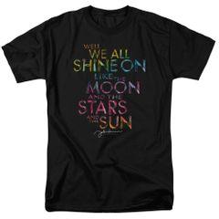 John Lennon All Shine On Black Short Sleeve Adult T-shirt