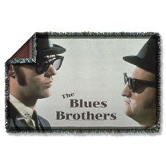 The Blues Brothers Brothers Woven Throw Blanket