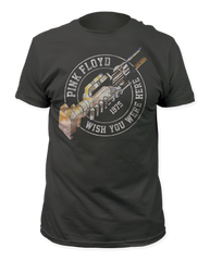 Pink Floyd Wish You Were Here '75 Black Short Sleeve Adult T-shirt