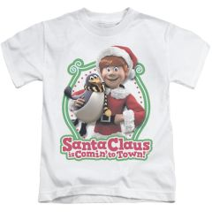 Christmas Santa Claus is Coming to Town Penguin Juvenile T-shirt