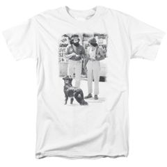 Cheech and Chong Dog White Short Sleeve Adult T-shirt