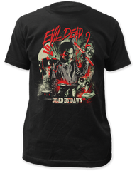 Evil Dead 2 Dead By Dawn Black 100% Cotton Adult T-shirt