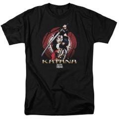 Suicide Squad Katana Flower Adult T-shirt