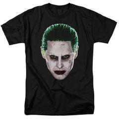 Suicide Squad Joker Head Adult T-shirt