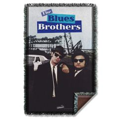 The Blues Brothers Poster Woven Blanket