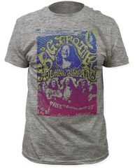 Big Brother and the Holding Company Vintage Handbill Heather Grey Short Sleeve Adult T-shirt