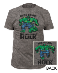 Incredible Hulk Here comes, There goes Adult T-shirt