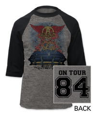 Aerosmith Studio Tour '84 Adult Baseball Jersey T-shirt