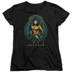 Aquaman Nouveau Black Short Sleeve Women's T-shirt