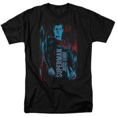 Justice League Superman Black Short Sleeve Adult T-shirt