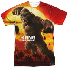 Kong Skull Island Kong Attacks White Short Sleeve Adult T-shirt