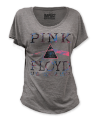 Pink Floyd US Tour 1972 Premium Heather Short Sleeve Women's T-shirt