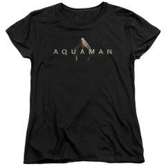Aquaman Logo Black Short Sleeve Women's T-shirt