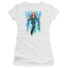 Aquaman Mera White Short Sleeve Junior T-shirt
