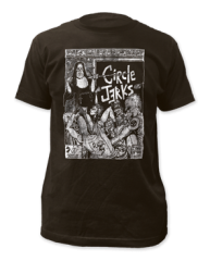 Circle Jerks Bad Religion Black Cotton Short Sleeve Adult T-shirt