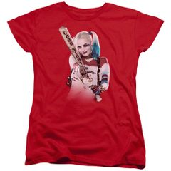 Suicide Squad Bat at You Red Womens T-shirt