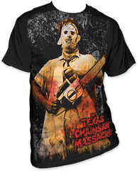 The Texas Chainsaw Massacre Full Color Chainsaw Big Print Adult T-shirt