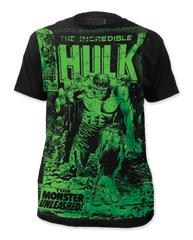 Incredible Hulk Monster Unleashed Big Print Adult T-shirt