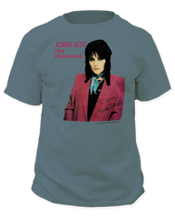 Joan Jett I Love Rock and Roll Garment Dyed Blue Grass Adult T-shirt