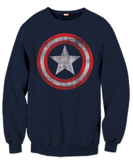 Captain America Distressed Shield Sweatshirt